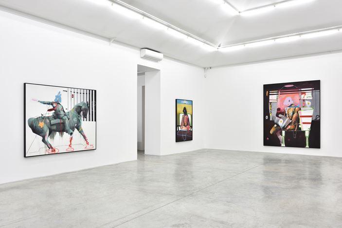 Exhibition view: Marcus Jansen, Power Structures, Almine Rech, Paris (16 January–27 February 2021). © Marcus Jansen. Courtesy the Artist and Almine Rech.Photo: Rebecca Fanuele.