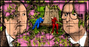 ON THE BENCH by Gilbert & George contemporary artwork