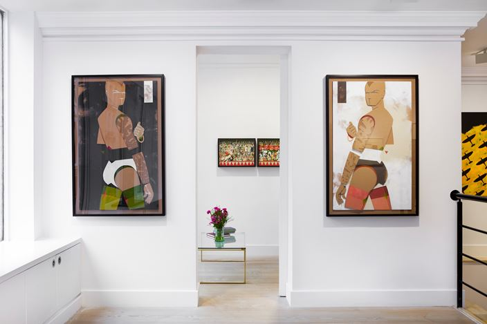 Exhibition view: Group Exhibition, Robert Fraser's Groovy Arts Club Band, Gazelli Art House, London (11 January–23 February 2019). Courtesy Gazelli Art House.