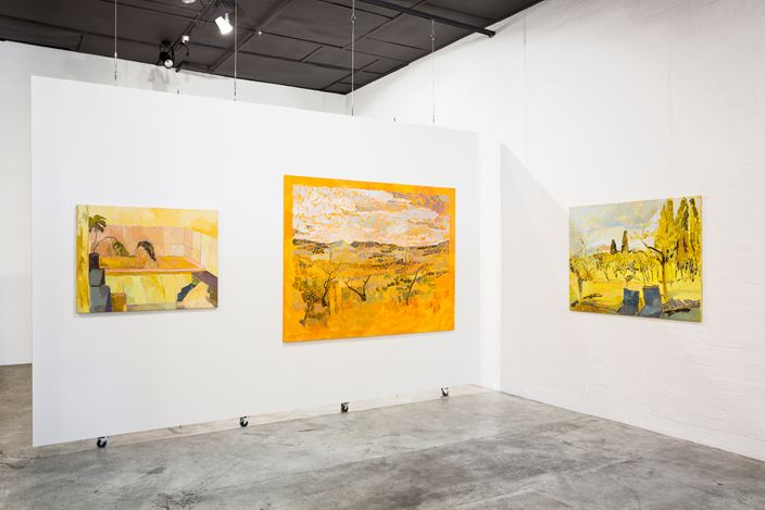 Exhibition view: Nicole Kelly, Fragmented Imaginings, THIS IS NO FANTASY + Dianne Tanzer Gallery (7 February–3 March 2018). Courtesy THIS IS NO FANTASY + Dianne Tanzer Gallery.