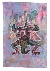 The Happiness of Dinosaurus DNA by Heri Dono contemporary artwork painting
