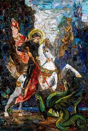 Repro (Saints): Saint George and the Dragon, after Gustave Moreau by Vik Muniz contemporary artwork
