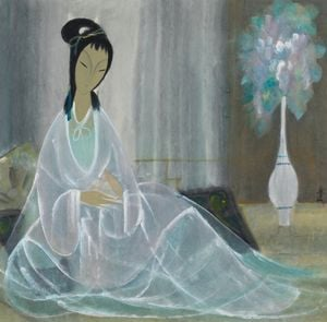 Lady in White by Lin Fengmian contemporary artwork