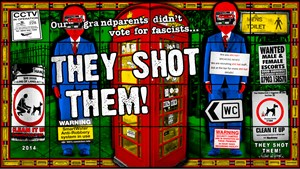 They Shot Them! by Gilbert & George contemporary artwork