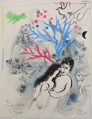 Daphnis und Chloé ( first page) by Marc Chagall contemporary artwork