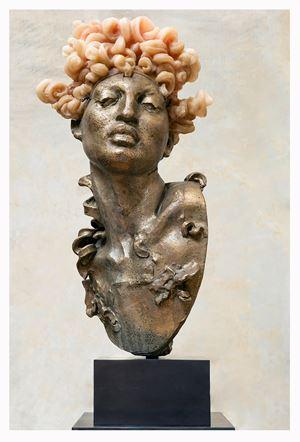 Cabeza Peluca I by Javier Marín contemporary artwork sculpture