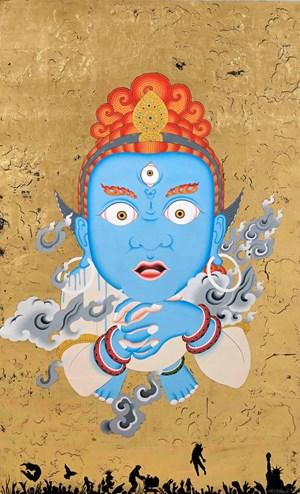 Spirit Unlimited (Blue) by Tsherin Sherpa contemporary artwork