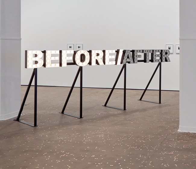 BEFORE/AFTER by Peter Liversidge contemporary artwork