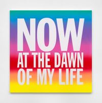 NOW AT THE DAWN OF MY LIFE by John Giorno contemporary artwork painting