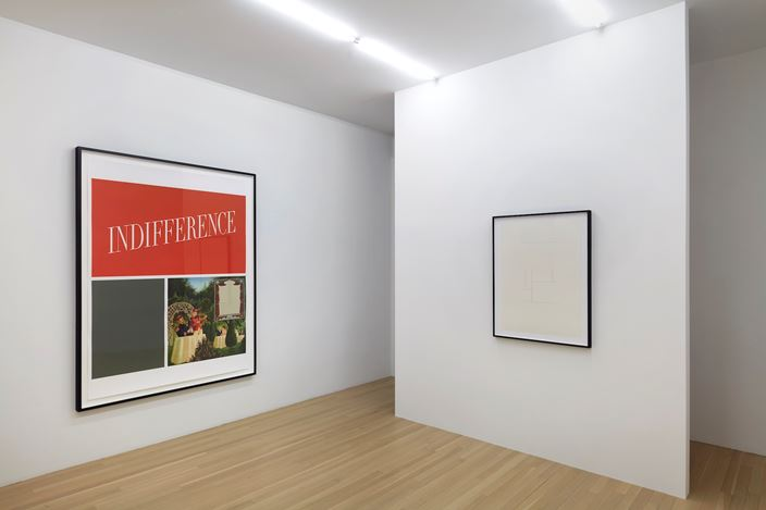 Exhibition view: Mathias Poledna, Indifference, Galerie Buchholz, New York (6 February–29 February 2020). Courtesy Galerie Buchholz Berlin/Cologne/New York.