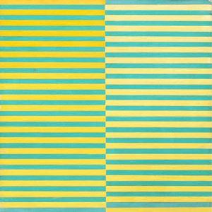 Ricerca del colore. Giallo su azzurro by Dadamaino contemporary artwork