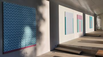 Contemporary art exhibition, Tess Jaray, From Piero and other paintings at New Art Centre, Salisbury, London