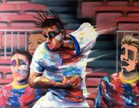 L'élu du mercato (The chosen one of the mercato) by Thomas Agrinier contemporary artwork painting