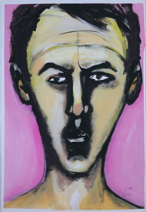 Die Braut I (The Bride I) by David Lehmann contemporary artwork works on paper, drawing