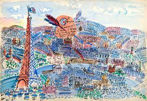 Le Coeur, le Palais et le Ventre de Paris by Raoul Dufy contemporary artwork