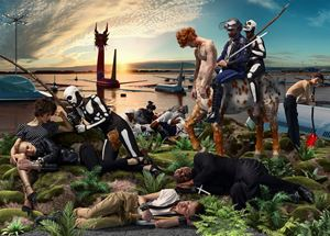 Allegoria Sacra, Knight and Death by AES+F contemporary artwork