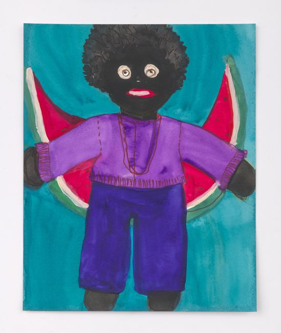 Boy with Watermelon by Betye Saar contemporary artwork