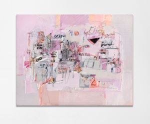 Pintura en rosa by Sarah Grilo contemporary artwork