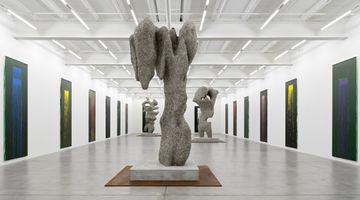 Contemporary art exhibition, Pat Steir & Ugo Rondinone, waterfalls & clouds at Galerie Eva Presenhuber, Maag Areal, Zürich, Switzerland