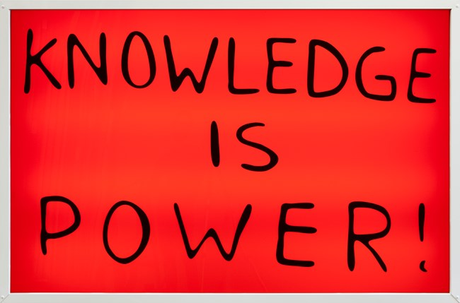 Knowledge is Power! by Sam Durant contemporary artwork