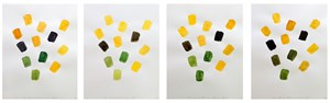 Still Life (Sunflowers) morning effect, noon effect, afternoon effect, evening effect by Spencer Finch contemporary artwork
