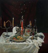 Le bouillon de onze heures by Jan Van Imschoot contemporary artwork painting, works on paper
