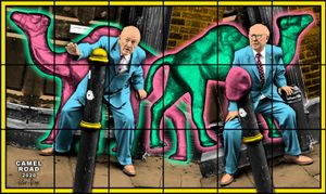 CAMEL ROAD by Gilbert & George contemporary artwork