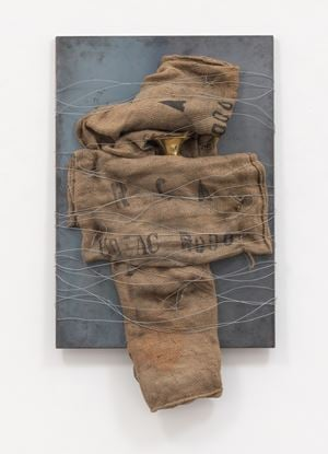 Senza titolo (Untitled) by Jannis Kounellis contemporary artwork mixed media