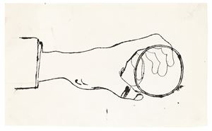 Hand holding a Cup by Andy Warhol contemporary artwork