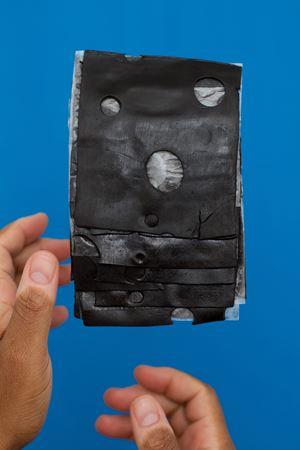 Black Cheesuz by Dave McKenzie contemporary artwork photography, print