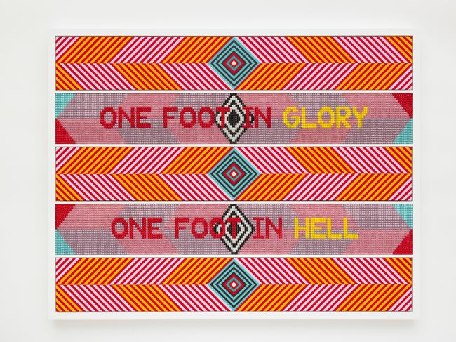 ONE FOOT IN GLORY, ONE FOOT IN HELL by Jeffrey Gibson contemporary artwork