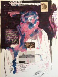 Untitled VI (Marxism-Leninism-Mao Zedong thought) by Kudzanai Chiurai contemporary artwork works on paper