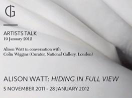 ARTIST TALK - Alison Watt