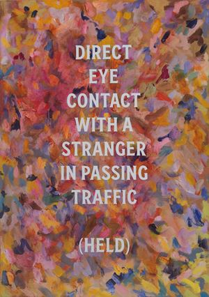 Direct eye contact (held) by Elliot Collins contemporary artwork