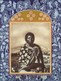 A Few South Africans - Virgina Mngoma by Sue Williamson contemporary artwork print, mixed media