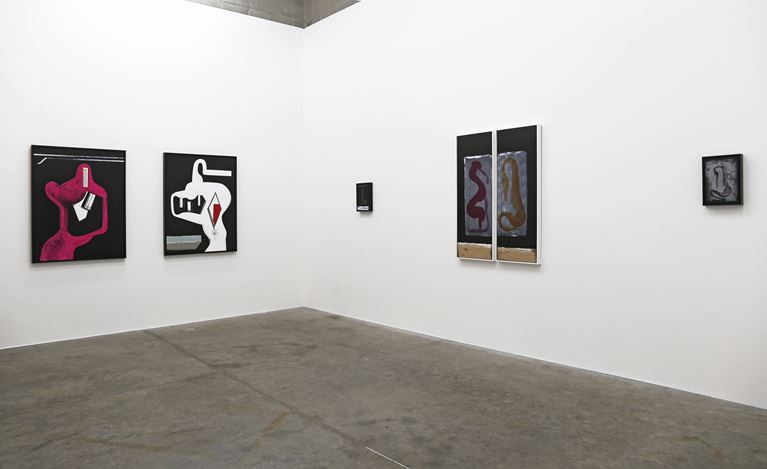 Exhibition view: Mark Braunias, Son of Mang, Jonathan Smart Gallery (2 August–1 September 2018). Courtesy Jonathan Smart Gallery.