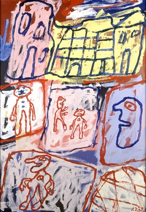 Rencontres en ville (Encounters in the City) by Jean Dubuffet contemporary artwork