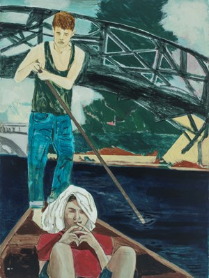 Punting on the Cam (Sunstroke) by Hernan Bas contemporary artwork