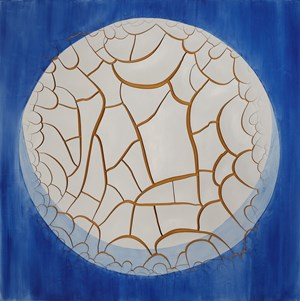 Azulejão (Moon) by Adriana Varejão contemporary artwork