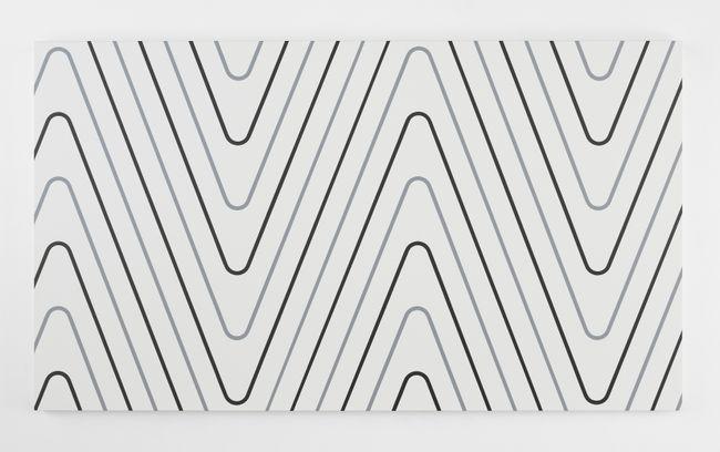 """52 x 4 n°11 Quand j'étais petit, je ne faisais pas grand (d'après """"Lignes grises et noires"""", 1952) by François Morellet contemporary artwork"""