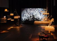 The Crowd by Philippe Parreno contemporary artwork moving image