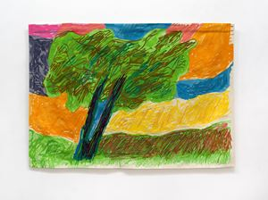L'Olivier by Etel Adnan contemporary artwork