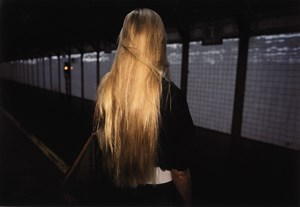 Untitled, Subway, New York (Blonde Hair) by Bruce Davidson contemporary artwork