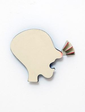 No title (head with sore nose) by Robert Therrien contemporary artwork