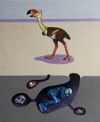 The bird of Terror by Guillaume Pinard contemporary artwork painting, works on paper
