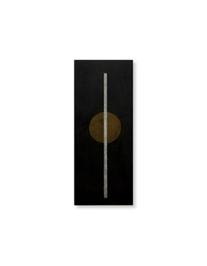 Untitled (black plywood works) by Alan Johnston contemporary artwork