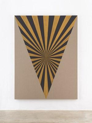 Muff, Black, Gold, Center, Beam by Elisabeth Frieberg contemporary artwork