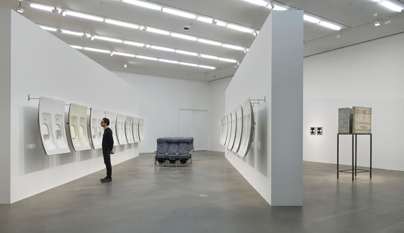 Exhibition view: Isa Genzken, Window, Hauser & Wirth, London (7 February–14 August 2020). © Isa Genzken / Licensed by Artists Rights Society (ARS), New York. Courtesy the artist, Hauser & Wirth and Galerie Buchholz Cologne / Berlin / New York. Photo: Alex Delfanne.