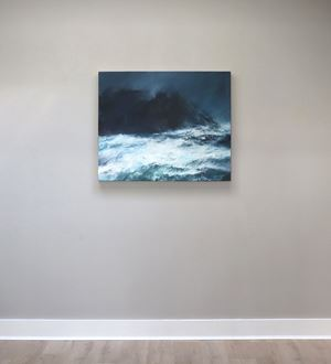 Sea state force 11 - Racing waves on the Clett, Silwick by Janette Kerr contemporary artwork