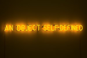 Self-defined object by Joseph Kosuth contemporary artwork